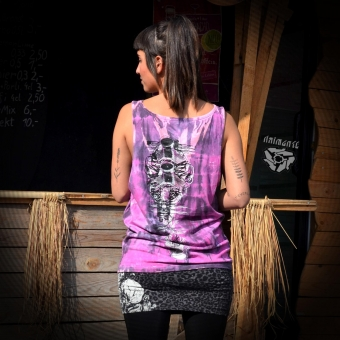 Unisex Top Antenne Totem dirtypink