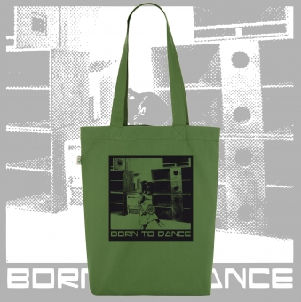 Totebag Born To Dance grün