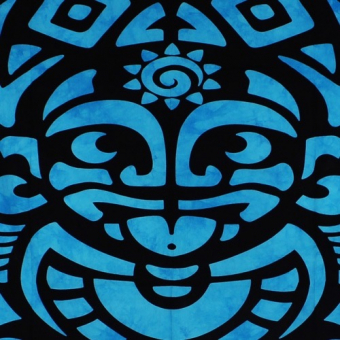 Banner Tribal Face Turquoise